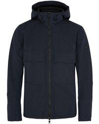J.Lindeberg - Nickel Navy Hooded Shell Jacket - Lyst