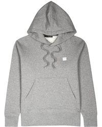 Acne Studios - Ferris Face Hooded Cotton Sweatshirt - Lyst