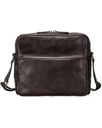 Maxwell Scott Bags Maxwell Scott Mens Full Grain Leather Shoulder Bag - Santinom Brown