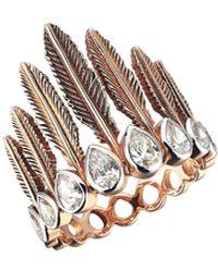 Kismet by Milka Amanese Feather Ring, Size 7 - Metallic