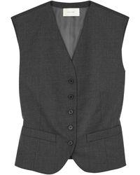 The Row Vega Dark Grey Wool Waistcoat