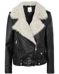 La Bête - Classic Black Leather Jacket - Lyst