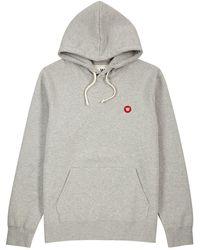 WOOD WOOD - Ian Grey Hooded Cotton Sweatshirt - Lyst