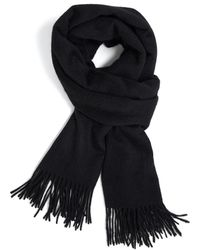 Theory Classic Scarf In Cashmere - Black