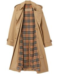 Burberry Long Chelsea And Kensington Fit Heritage Warmer - Brown