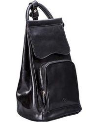 Maxwell Scott Bags | Black Leather Ladies Backpack Handbag (carli) | Lyst