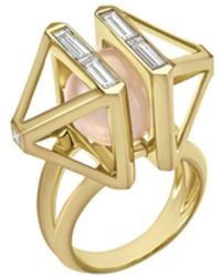 Atelier Swarovski - Double Diamond Cocktail Ring Created Diamonds - Lyst
