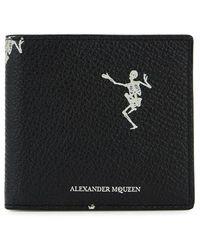 Alexander McQueen - Dancing Skeleton Leather Bi-fold Wallet - Lyst