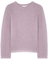 Vince Lilac Open-knit Sweater - Purple