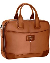 S.t. Dupont Laptop And Document Holder - Brown