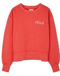 Rag & Bone - Hello Red Cotton Swearshirt - Lyst