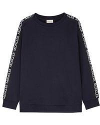 Moncler - Logo-embroidered Cotton Sweatshirt - Lyst