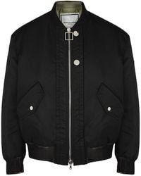 Wooyoungmi Black Padded Shell Bomber Jacket