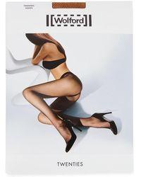 Wolford - Twenties Honey Micro-fishnet Tights - Lyst