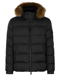 Moncler - Marque Fur-trimmed Shell Jacket - Lyst