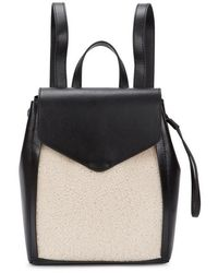 Loeffler Randall - Black Shearling And Leather Backpack - Lyst
