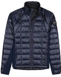 Canada Goose - Hybridge Lite Navy Shell And Jersey Jacket - Lyst