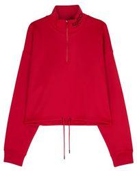 KENZO - Red Cropped Jersey Sweatshirt - Lyst