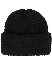 Inverni Giulia Black Chunky-knit Cashmere Beanie
