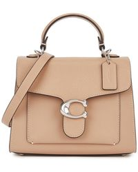 COACH Tabby 20 Taupe Leather Top Handle Bag - Brown