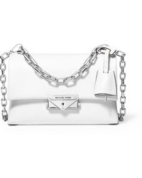 MICHAEL Michael Kors Cece Extra-small Leather Crossbody Bag - White