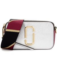 Marc Jacobs Snapshot Silver Leather Cross-body Bag - Metallic