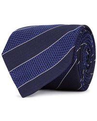 Eton of Sweden - Navy Striped-jacquard Silk Tie - Lyst