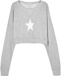 Wildfox - All-star Cropped Jersey Sweatshirt - Lyst