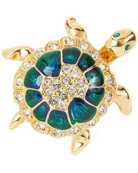 Susan Caplan 1960s Vintage Attwood Sawyer Tortoise Brooch - Multicolour