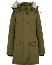Canada Goose - Trillium Olive Fur-trimmed Parka - Lyst