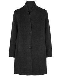 Eileen Fisher Charcoal Alpaca-blend Coat - Gray