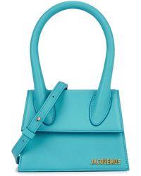 Jacquemus Le Chiquito Moyen Turquoise Top Handle Bag - Blue