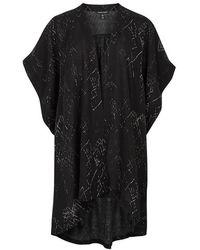 Eileen Fisher - Printed Silk Crepe Kimono - Lyst
