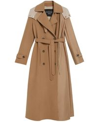 Weekend by Maxmara Water-repellent Wool And Twill Trench Coat - Natural