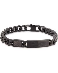 Tateossian Medium Matte Black Chain Bracelet