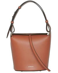 7be9d25c3456 Burberry The Small Leather Bucket Bag in White - Lyst