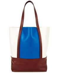 Plan C - Colour-block Leather Tote - Lyst