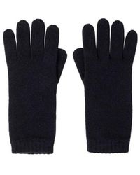 Johnstons Navy Short Cuff Womens Cashmere Gloves - Blue