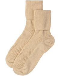 Johnstons Natural Womens Cashmere Socks
