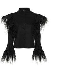 Boo Pala London - Mei Feathers Shirt - Lyst