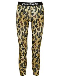Palm Angels Camouflage-print Stretch-jersey Leggings - White