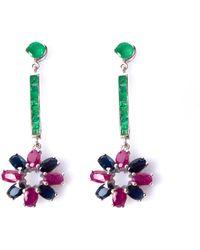 Isabel Englebert Art Deco Earrings - Multicolour