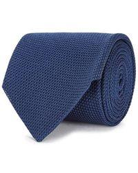Drake's - Blue Grenadine-woven Silk Tie - Lyst