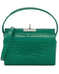 GU_DE Milky Green Leather Top Handle Bag