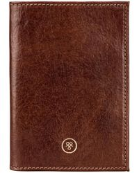 Maxwell Scott Bags Tan Men's Purse Wallet In Brown