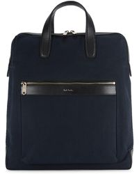 Paul Smith Navy Canvas Tote - Blue