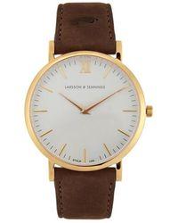Larsson & Jennings - Läder Gold-plated Watch - Lyst