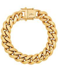 Fallon Ruth Curb Gold-plated Chain Bracelet - Metallic