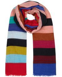 Diane von Furstenberg - Carson Striped Modal-blend Scarf - Lyst