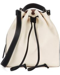 JW Anderson - Off-white Grained Leather Bucket Bag - Lyst